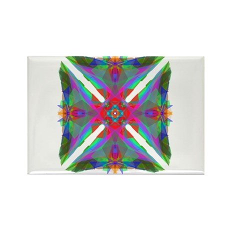 Kaleidoscope 000 Rectangle Magnet (10 pack)