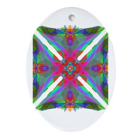 Kaleidoscope 000 Oval Ornament
