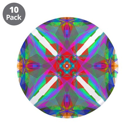 "Kaleidoscope 000 3.5"" Button (10 pack)"