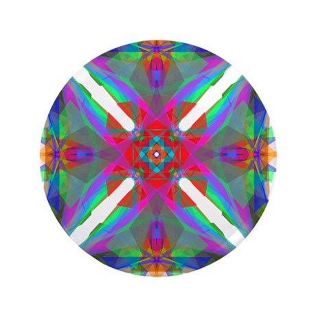 "Kaleidoscope 000 3.5"" Button (100 pack)"