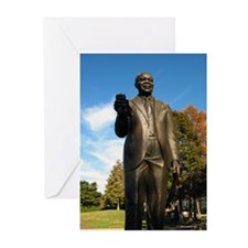Louis Armstrong Statue Greeting Cards (Pk of 20)
