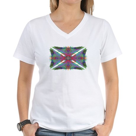 Kaliedoscope 000 Women's V-Neck T-Shirt
