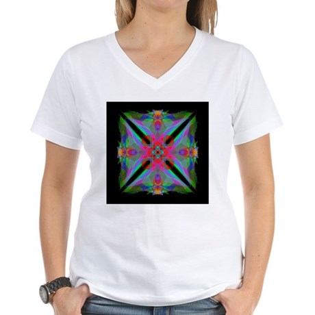 Kaleidoscope 000a2 Women's V-Neck T-Shirt