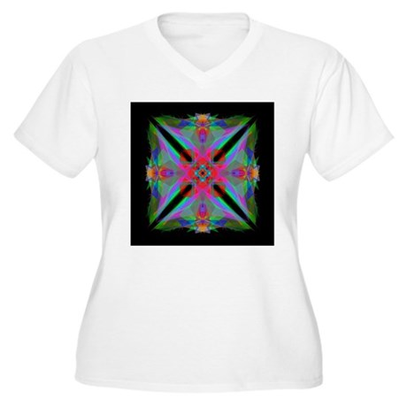 Kaleidoscope 000a2 Women's Plus Size V-Neck T-Shir