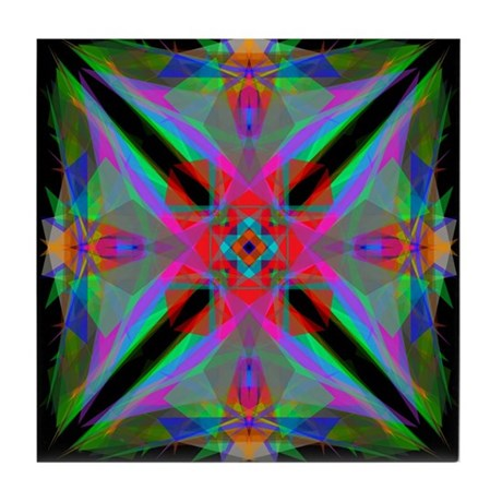 Kaleidoscope 000a2 Tile Coaster