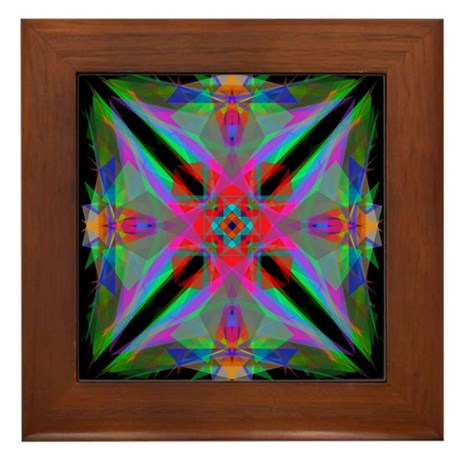 Kaleidoscope 000a2 Framed Tile