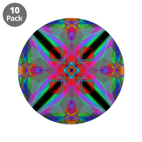 "Kaleidoscope 000a2 3.5"" Button (10 pack)"