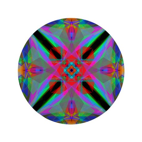 "Kaleidoscope 000a2 3.5"" Button"