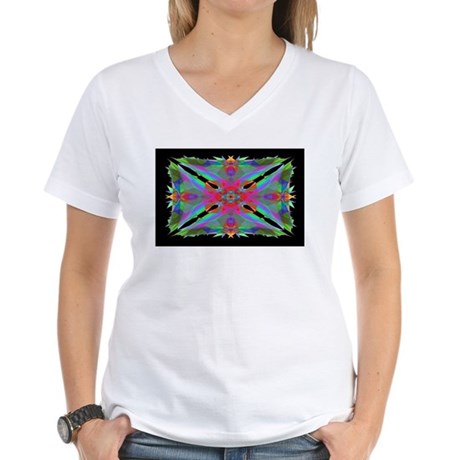 Kaleidoscope 000a Women's V-Neck T-Shirt