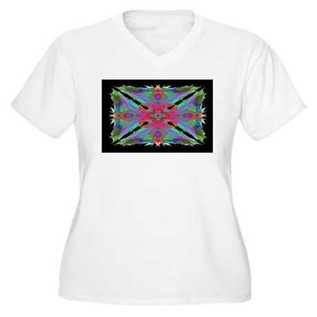 Kaleidoscope 000a Women's Plus Size V-Neck T-Shirt