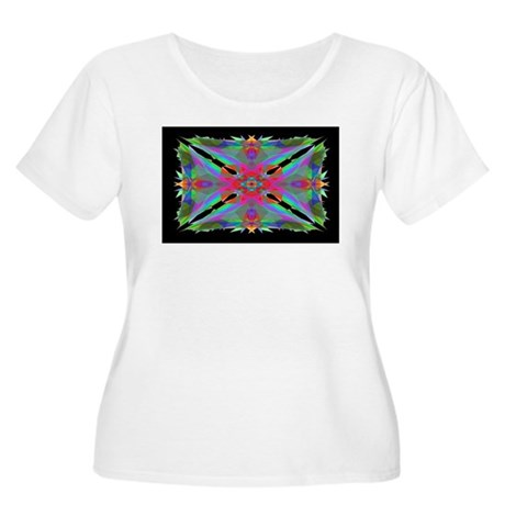 Kaleidoscope 000a Women's Plus Size Scoop Neck T-S