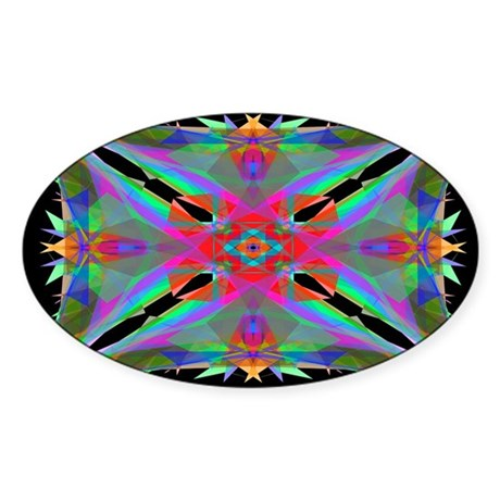 Kaleidoscope 000a Oval Sticker