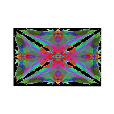 Kaleidoscope 000a Rectangle Magnet (10 pack)