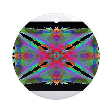 Kaleidoscope 000a Ornament (Round)