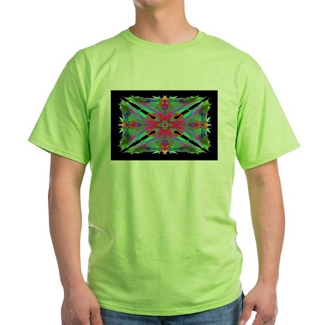 Kaleidoscope 000a Green T-Shirt