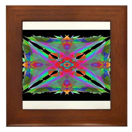 Kaleidoscope 000a Framed Tile