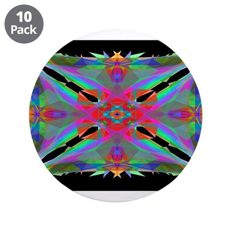"Kaleidoscope 000a 3.5"" Button (10 pack)"