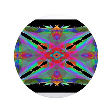 "Kaleidoscope 000a 3.5"" Button"