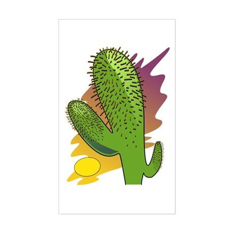 Southwestern Cactus Rectangle Sticker