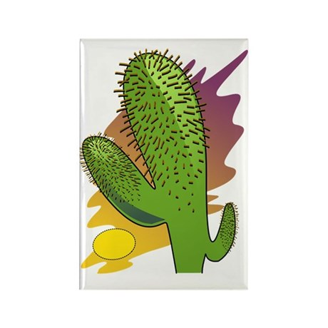 Southwestern Cactus Rectangle Magnet (100 pack)