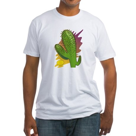 Southwestern Cactus Fitted T-Shirt