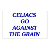 Celiacs Go Against The Grain Rectangle Decal