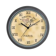 Paris Hotel Shabby Chic Wall Clock