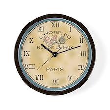 Paris Hotel Shabby Chic Wall Clock