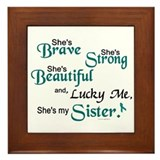 Lucky Me 1 (Sister OC) Framed Tile