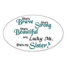 Lucky Me 1 (Sister OC) Oval Decal