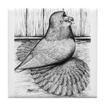 Ideal English Trumpeter Tile Coaster