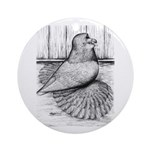 Ideal English Trumpeter Ornament (Round)