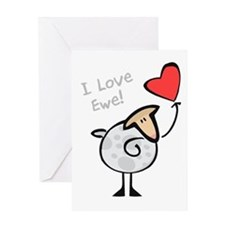 I Love Ewe Greeting Card