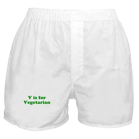 V is for Vegetarian Boxer Shorts