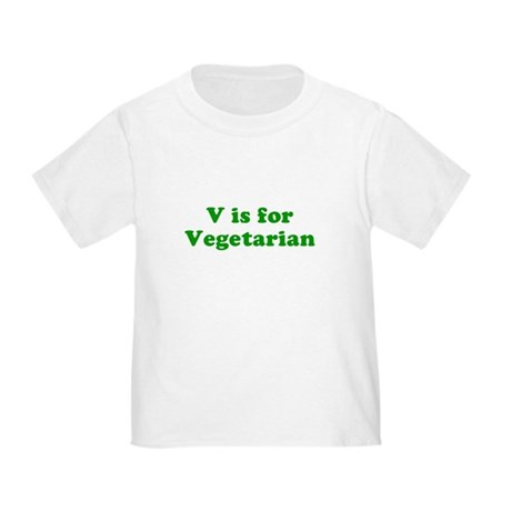 V is for Vegetarian Toddler T-Shirt