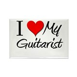 I Heart My Guitarist Rectangle Magnet