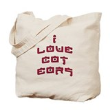 &quot;I Love Cat Ears&quot; saying Tote Bag