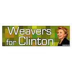 Weavers for Clinton bumper sticker