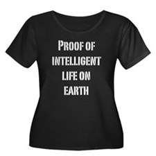 Intelligent Life Women's Plus Size Scoop Neck Dark