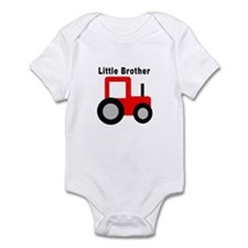 Little Brother Red Tractor Infant Bodysuit
