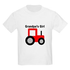 Grandpa's Girl Red Tractor T-Shirt