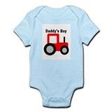 Daddy's Boy Red Tractor Infant Bodysuit