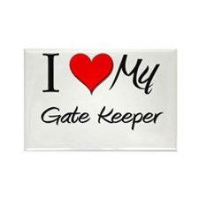 I Heart My Gate Keeper Rectangle Magnet