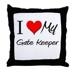 I Heart My Gate Keeper Throw Pillow