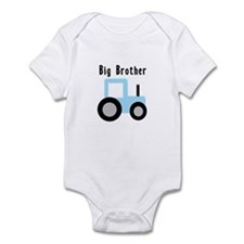 Big Brother Baby Blue Tractor Infant Bodysuit