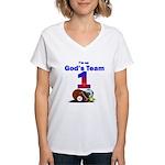 God's Team Women's V-Neck T-Shirt