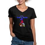 God's Team Women's V-Neck Dark T-Shirt