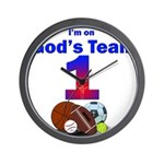 God's Team Wall Clock