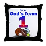 God's Team Throw Pillow
