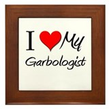 I Heart My Garbologist Framed Tile